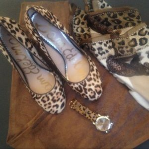 Sam Edelman Leopard Cowhide Pumps